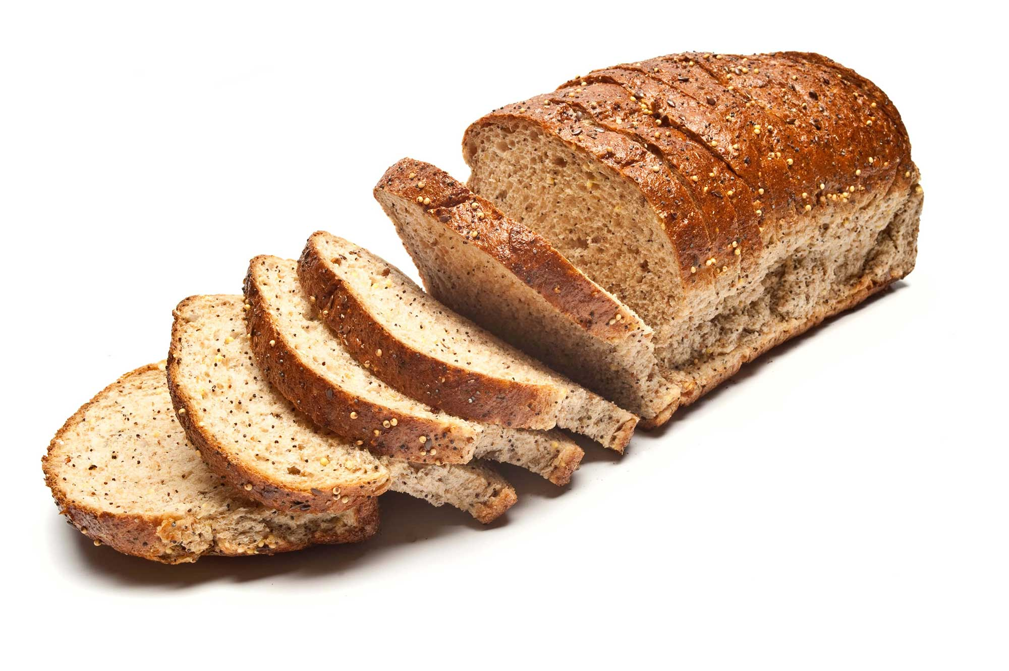 Sliced Loaf of Seeded Brown Bread